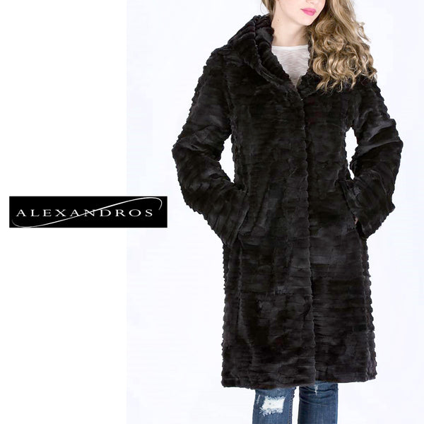 Special Offer on our Exclusive Mink Coat with Hood - alexandros-furs