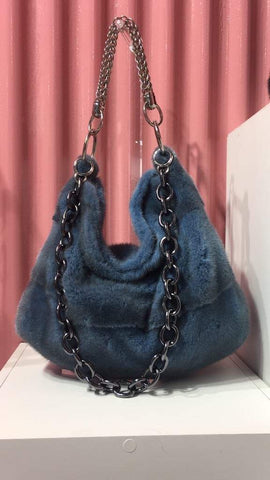 Mink blue bag or any other color - alexandros-furs