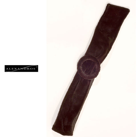 Sheared Mink Belt with Buckle - Custom Made - alexandros-furs