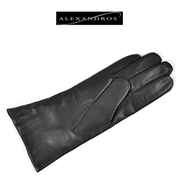 Women's 3/4 Leather Gloves - alexandros-furs