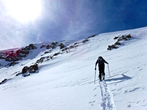 Ski touring with the BMF telemark bindings