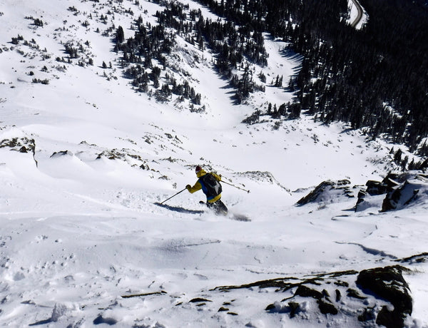 telemark skiing on the BMF binding