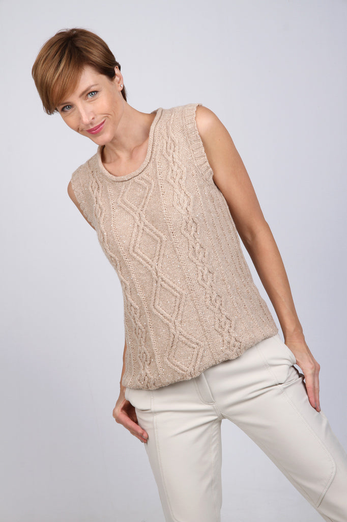 Lambswool and cashmere top