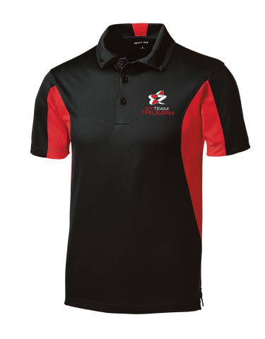 Mens Side Blocked Micropique Sport-Wick® Polo w/ Embroidered Logo