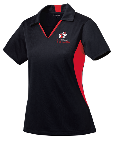 Ladies Side Blocked Micropique Sport-Wick® Polo w/ Embroidered Logo