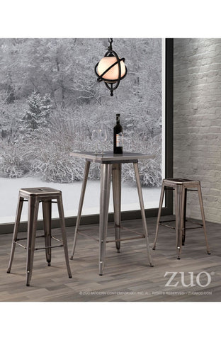 Zuo Modern Olympia Gunmetal Bar Table -  - 1
