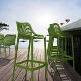 Compamia Air Indoor Outdoor Resin Modern Bar Stool - Set of 2 -  - 11