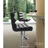 Nitro Adjustable Chrome Base Bar Stool