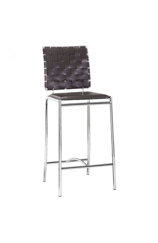 Zuo Modern Criss Cross Leatherette Counter Chair - gardenmybalcony.com - 5