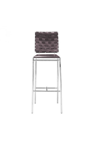 Zuo Modern Criss Cross Leatherette Barstool -  - 3