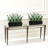 Weir Table Top Fiberglass Rectangle Planter