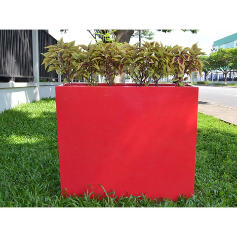 Amesbury Rectangular Fiberglass Planter Box