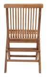 Zuo Modern Regatta Teak Wood Folding Chair - Set of 2 -  - 4