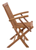Zuo Modern Regatta Teak Wood Folding Arm Chair - Set of 2 -  - 4