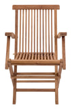 Zuo Modern Regatta Teak Wood Folding Arm Chair - Set of 2 -  - 2
