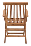 Zuo Modern Regatta Teak Wood Folding Arm Chair - Set of 2 -  - 3