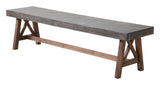 Zuo Modern Ford Wood Bench -  - 1