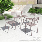 Zuo Modern Wald Outdoor Dining Chair - Set of 2 -  - 4