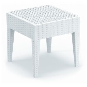 Compamia Miami Outdoor Square Wickerlook Resin Side Table -  - 3