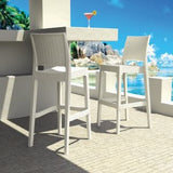 Compamia Jamaica Wickerlook Resin Outdoor Bar Stool - Set of 2 -  - 2