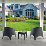 Compamia Aruba Wickerlook Resin Outdoor Chair - Set of 2 -  - 8