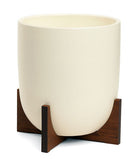 Modernica Case Study® Ceramic Bullet Pot Planter with Stand - gardenmybalcony.com - 2