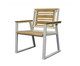 Classic Indoor Outdoor Natural Solid Teak Wood Arm Chair - gardenmybalcony.com - 2