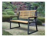 Aegean Indoor Outdoor 2-Seater Natural Solid Teak Wood Bench - gardenmybalcony.com - 1