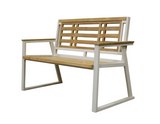 Aegean Indoor Outdoor 2-Seater Natural Solid Teak Wood Bench - gardenmybalcony.com - 2