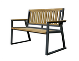 Chino Indoor Outdoor 2-Seater Natural Solid Teak Wood Bench - gardenmybalcony.com - 2
