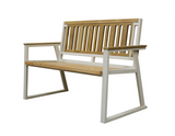 Chino Indoor Outdoor 2-Seater Natural Solid Teak Wood Bench - gardenmybalcony.com - 3