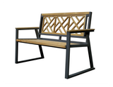 Chippendale Indoor Outdoor 2-Seater Natural Solid Teak Wood Bench - gardenmybalcony.com - 2