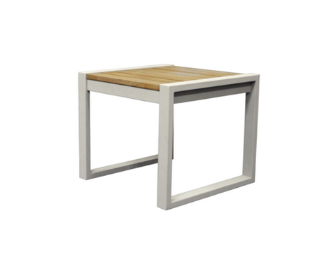 Classic Indoor Outdoor Natural Solid Teak Wood Side Table - gardenmybalcony.com - 1