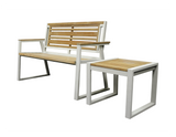 Classic Indoor Outdoor 2-Seater Natural Solid Teak Wood Bench - gardenmybalcony.com - 5