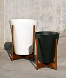 Modernica Case Study® Ceramic Funnel Pot Planter with Wood Stand -  - 7