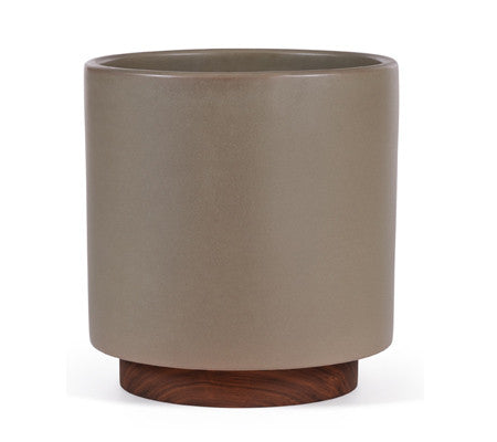 Modernica Case Study® Stoneware Ceramic Cylinder Planter with Plinth - gardenmybalcony.com - 1