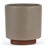 Modernica Case Study® Stoneware Ceramic Cylinder Planter with Plinth - gardenmybalcony.com - 5