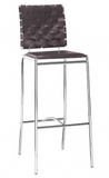 Zuo Modern Criss Cross Leatherette Barstool -  - 1
