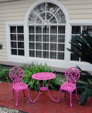 Meadow Decor Outdoor Bistro Aluminum Table and Chairs Set - gardenmybalcony.com - 15