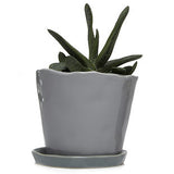"Big Tika 5"" Ceramic Succulent Pot -  - 6"
