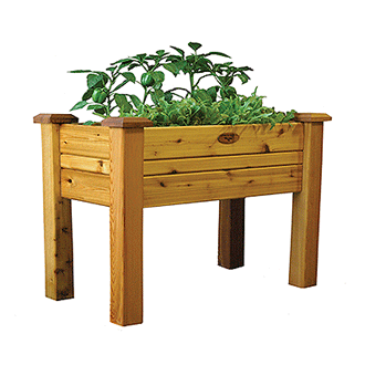 Gronomics Easy Assembly Elevated Garden Bed 18X34X32 - Finished - gardenmybalcony.com