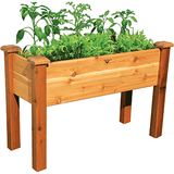 Gronomics Easy Assembly Elevated Garden Bed 18X48X32 - Finished - gardenmybalcony.com