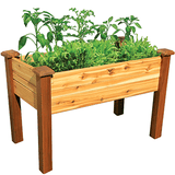 Gronomics Easy Assembly Elevated Garden Bed 28X48X32 - Finished - gardenmybalcony.com