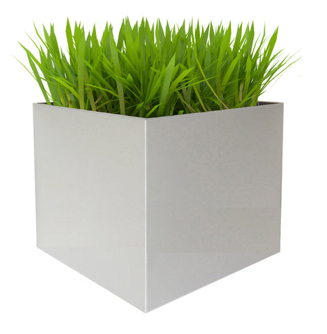 NMN Designs Madeira Aluminum Cube Planter Large - Without Wood Base - gardenmybalcony.com - 1