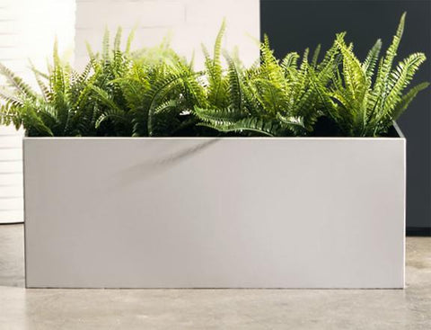 NMN Designs Madeira Aluminum Rectangle Planter