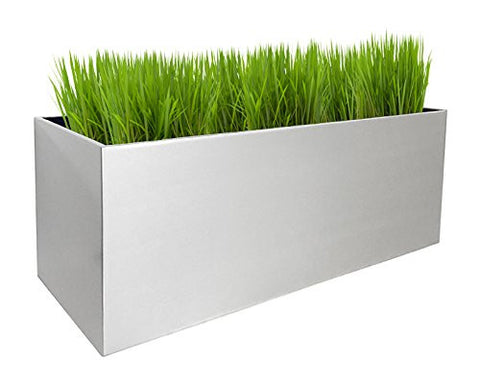 NMN Designs Madeira Aluminum Rectangle Planter -  - 1