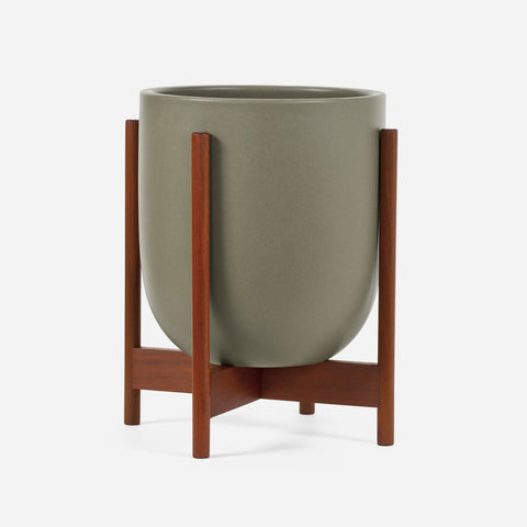 Modernica Case Study® Ceramic Small Bullet Pot Planter with Stand