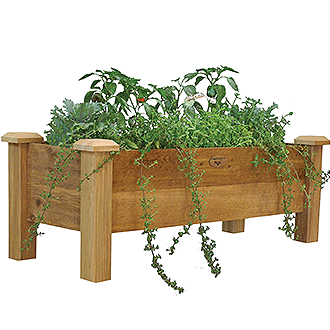 Gronomics Easy Assembly Rustic Planter Box - 18X48X19 - gardenmybalcony.com