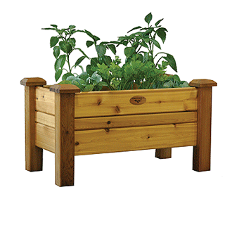 Gronomics Easy Assembly Planter Box 18X34X19 - Finished - gardenmybalcony.com