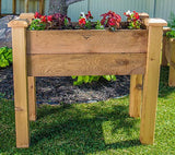 Gronomics Easy Assembly Rustic Elevated Garden Bed - 18X34X32 - gardenmybalcony.com - 2